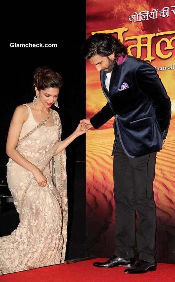Deepika Padukone Ranvir Singh Launch Ram Leela Trailer