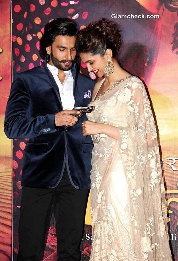 Deepika Padukone Ranvir Singh at Ram Leela Trailer Launch