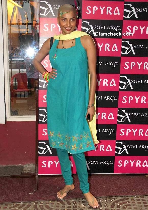Diandra Soares at Spyra Suvi Arya Festive Collection 2013 Preview