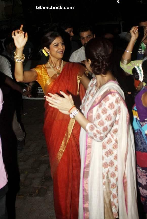 Ganesh Visarjan 2013 Shilpa Shetty