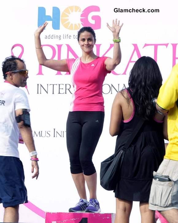 Gul Panag 2013 Spreading Breast Cancer Awareness