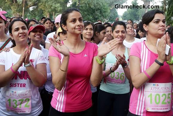 Gul Panag 2013 Spreads Breast Cancer Awareness