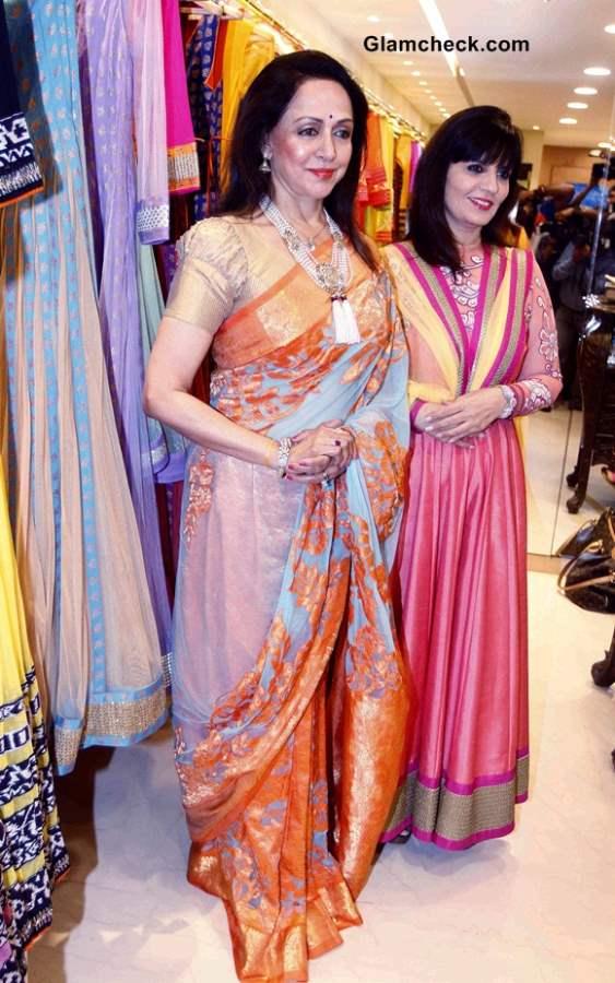 Hema Malini and Neeta Lulla New Sari Collection in Mumbai