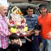 Hrithik Roshan Immerses Ganesh Idol in Mumbai with Family