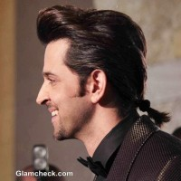 Hritik Roshan New Hairstyle Ponytail at GQ Man of the Year Awards 2013