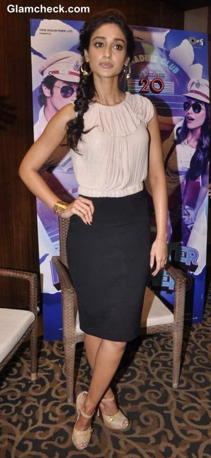 Ileana DCruz  in beige and black outfit 2013