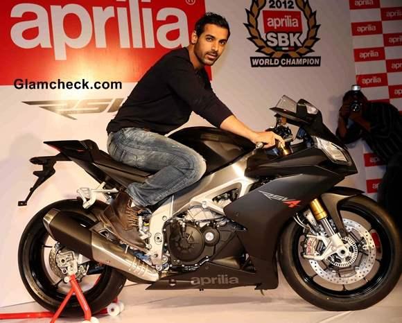 John Abraham new bike Aprilia RSV4