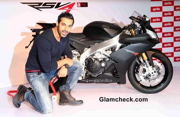 John Abraham with Superbike Aprilia RSV4