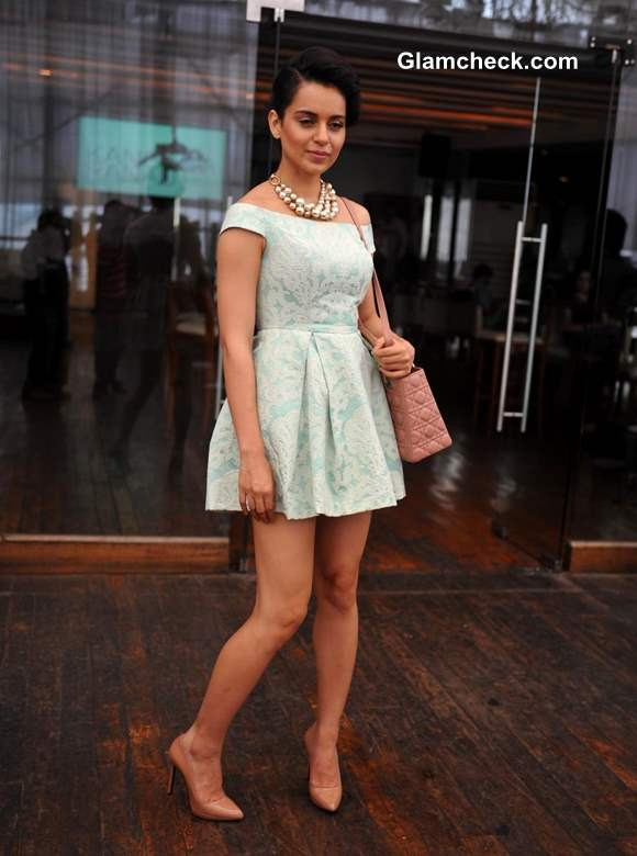 Kangana Ranaut In Another Topshop Dress At Website Launch