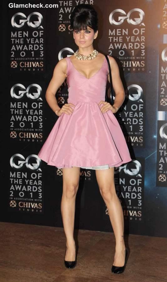 Kangana Ranaut pink dress at 2013 GQ Man of the Year Award