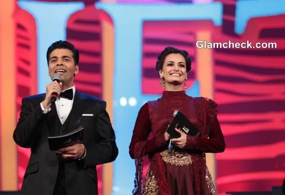 Karan Johar and Dia Mirza hosting at SAIFTA