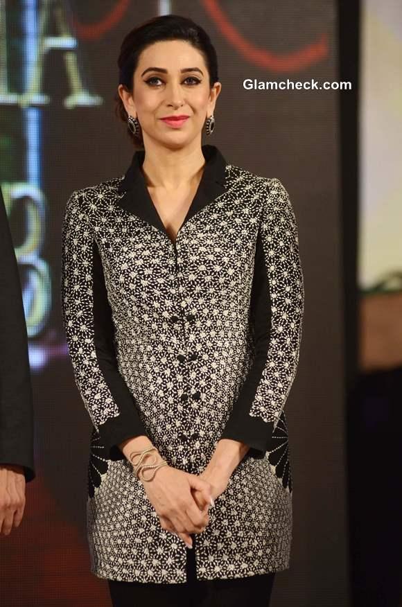 Karisma Kapoor in Rahul Mishra at Globoil India 2013 Awards