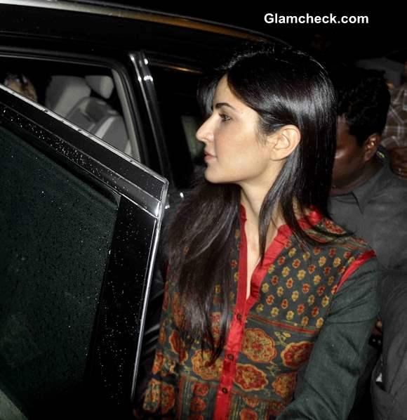Katrina Kaif at Salman Khans residence for the immersion of Ganesha Idol