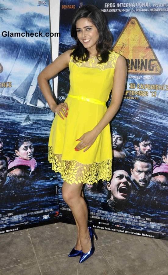 Madhurima Tulli 2013 Cast of Warning 3D