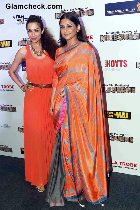 Malaika Arora Khan and Vidya Balan at Indian Film Festival of Melbourne 2013
