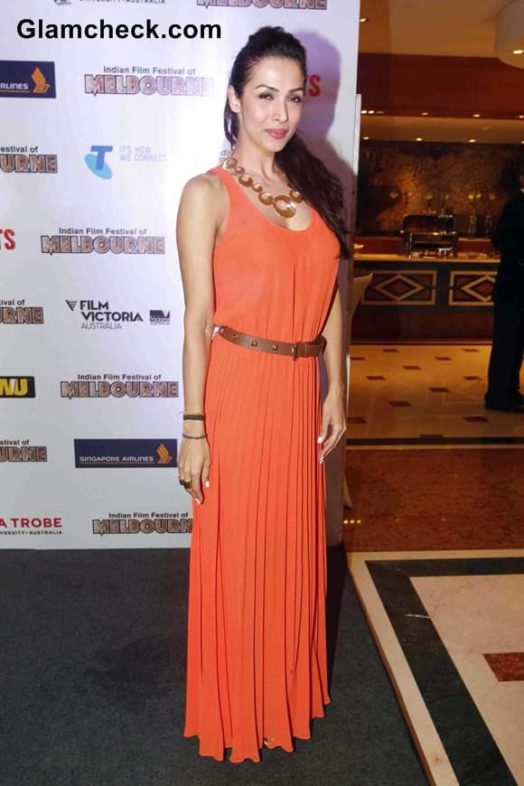 Malaika Arora Khan in Michael Kors gown 2013 Indian Film Festival of Melbourne Announcement