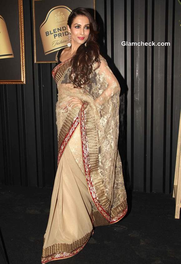 Malaika Arora in Sari at Blenders Pride Fashion Tour 2013