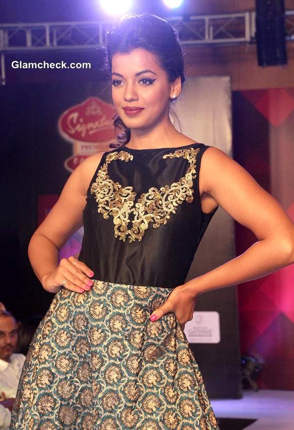 Mugdha Godse for Abhishek Dutta 2013 Signature Premier Fashion Parties - Assam