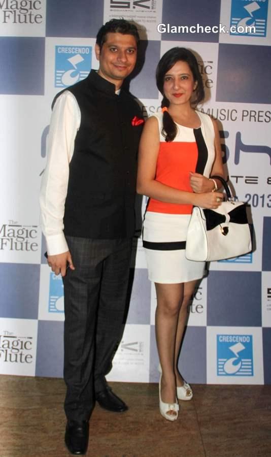 Music composer Siddharth Kashyap with fashion designer Amy Billimoria