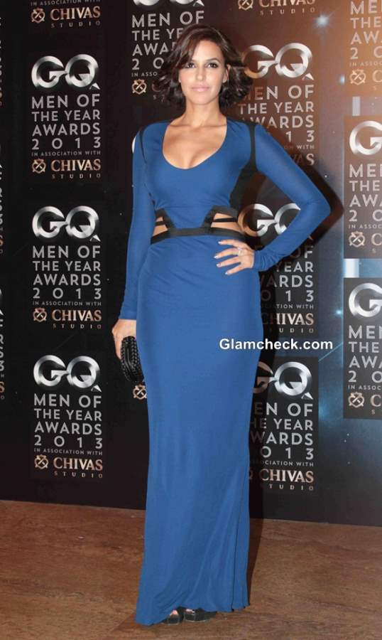 Neha Dhupia in Robert Cavalli Gown at GQ Men of the Year Awards 2013