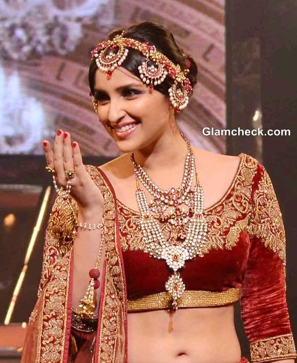 Parineeti Chopra 2013 in Lehenga at Yash Chopra Fashion Show