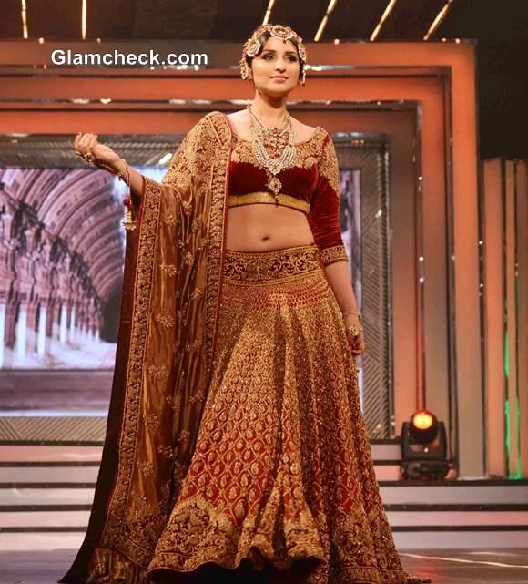 Parineeti Chopra in Lehenga at Yash Chopra Fashion Show