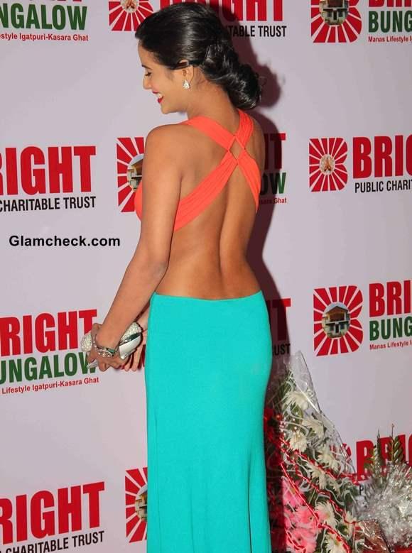 Poonam Pandey in backless gown at Yogesh Lakhani Birthday