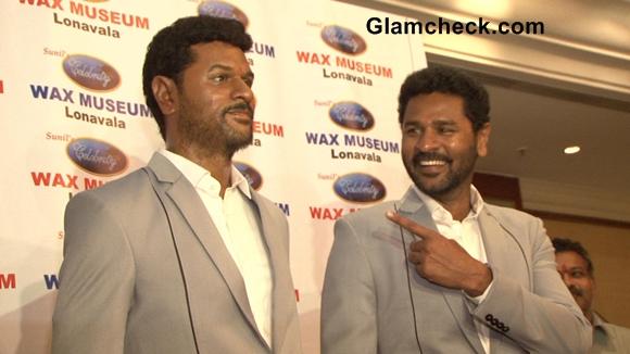 Director-actPrabhu-Deva-Unveils-His-Wax-Statue-for-Lonavla-Wax-Museumor-choreographer Prabhu Deva unveiled his wax statue for the Lonavala Wax Musseum on Sept 2, 2013. (Photo: IANS)