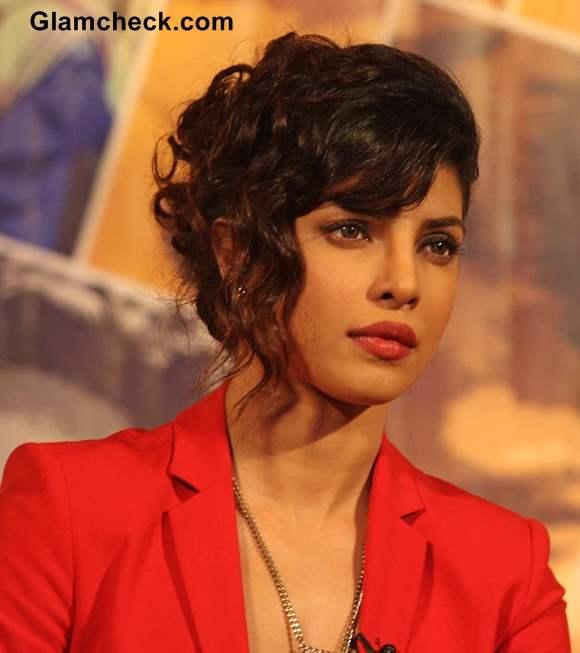 Priyanka Chopra Curly Hairstyle 2013 Chignon