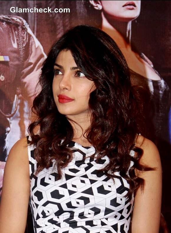 Priyanka Chopra Curly Hairstyle 2013
