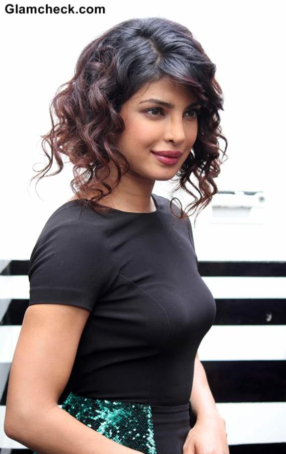 Priyanka Chopra Curly Hairstyle 2013