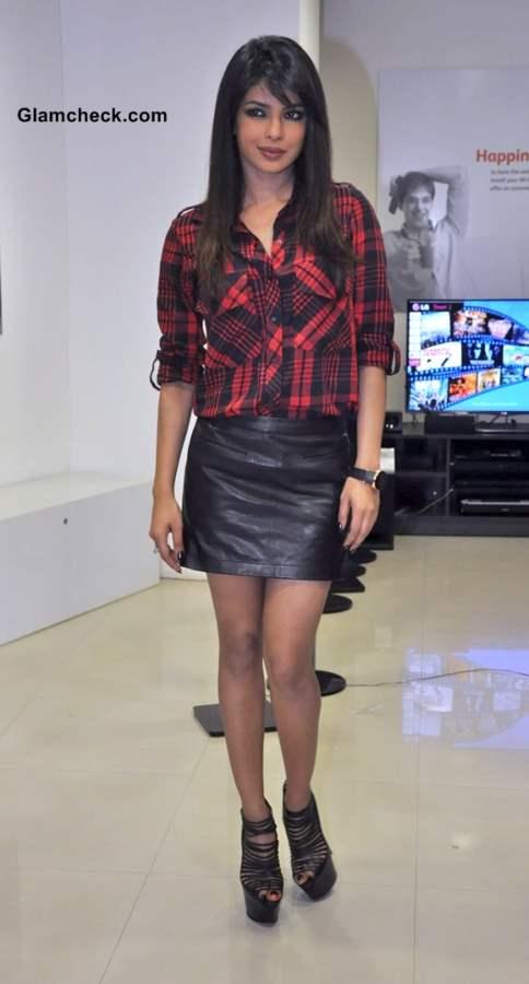 Priyanka Chopra Unveils Femina Power Issue in Leather Skirt