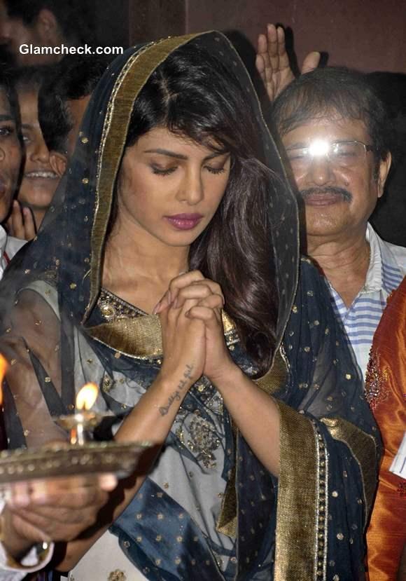 Priyanka Chopra at Andheri Cha Raja 2013 Pictures