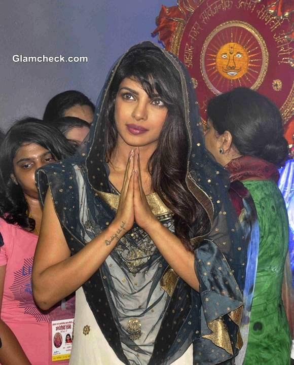 Priyanka Chopra  at Andheri Cha Raja 2013