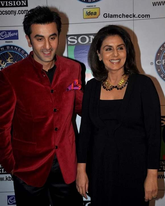 Ranbir Neetu Kapoor on KBC 7 to Promote Besharam