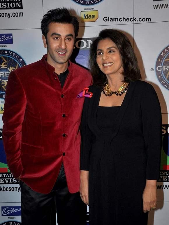 Ranbir and Neetu Kapoor on KBC 7 to Promote Besharam