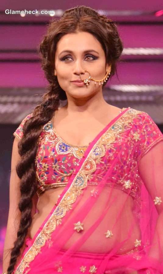 Rani Mukherjee 2013 Walks the Ramp in Pink Lehenga for Late Yash Chopra