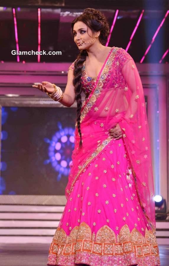 Rani Mukherjee 2013 in Pink Lehenga for Late Yash Chopra
