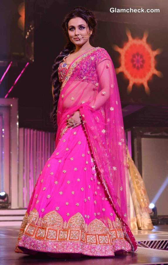 Rani Mukherjee in Pink Lehenga for Late Yash Chopra Tribute