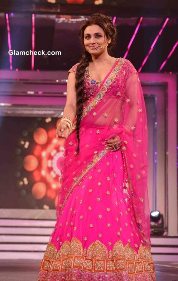 Rani Mukherjee in Pink Lehenga for Late Yash Chopra