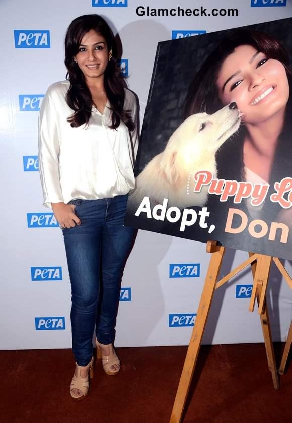 Raveena Tandon PETA Adopt Dont Buy Campaign 2013