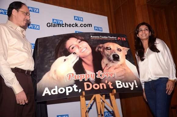 Raveena Tandon PETA Adopt Dont Buy Campaign