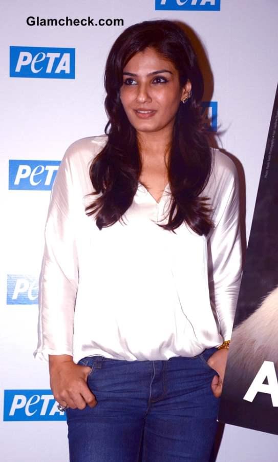 Raveena Tandon at PETA Adopt Dont Buy Campaign