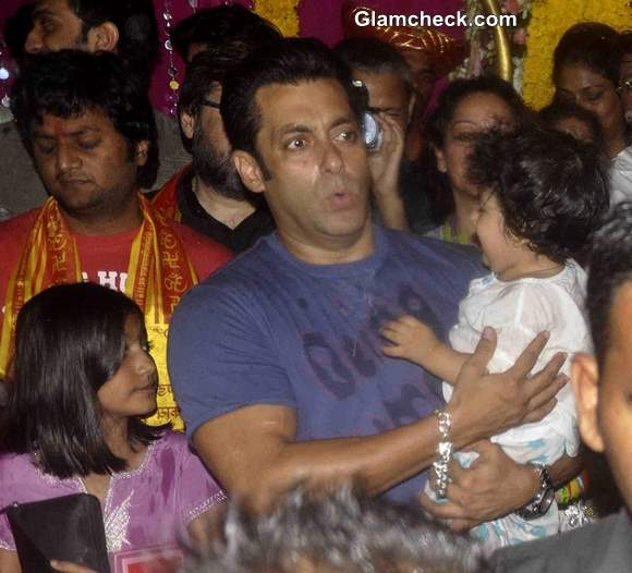 Salman Khan during the immersion of Lord Ganesha Idol 2013