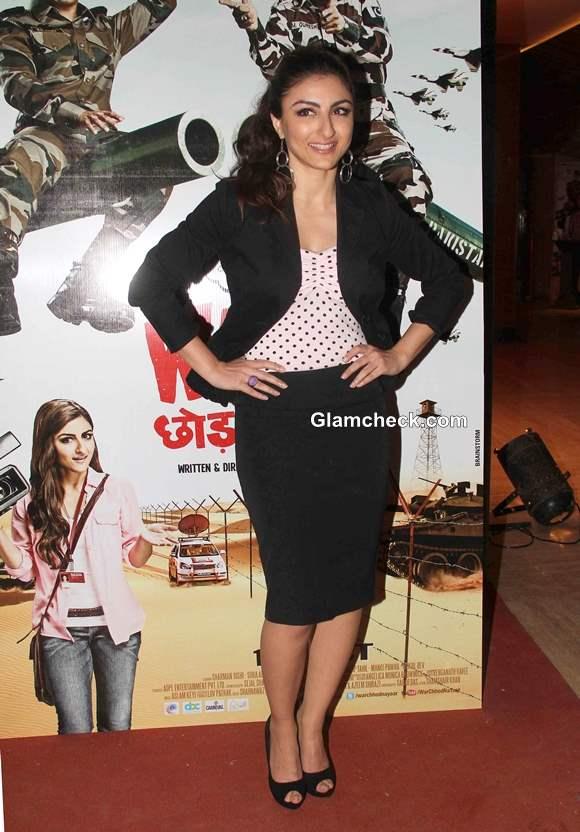 Soha Ali Khan at War Chhod Na Yaar Music Trailer Launch
