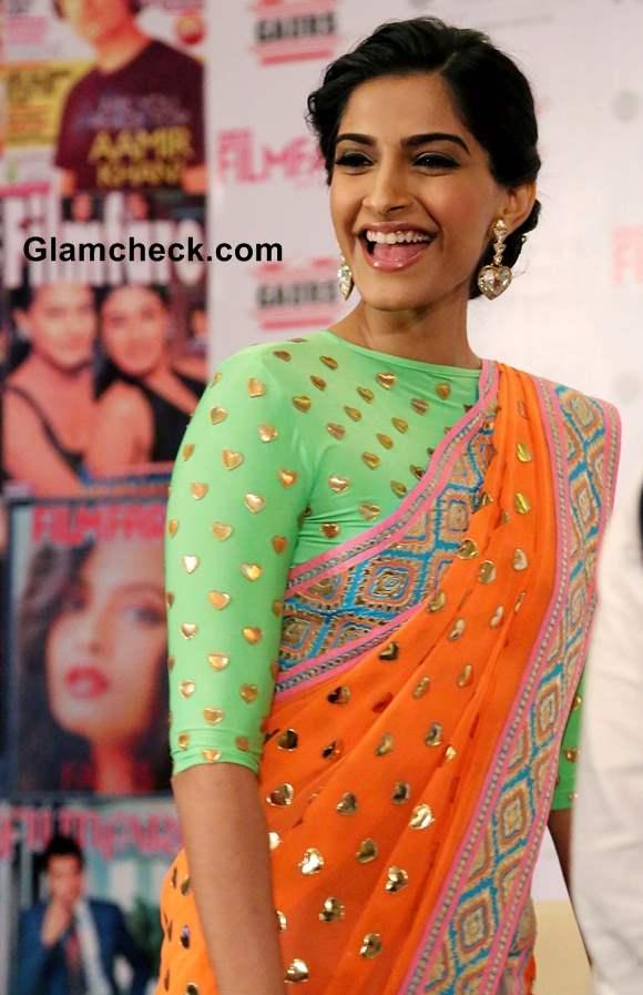 Sonam Kapoor 2013 Manish Arora Sari