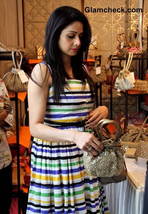 Sridevi in Dolce Gabbana dress 2013 Trousseau Araaish