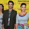 Vaani Kapoor Sushant Singh Rajput and Parineeti Chopra Promote Shudh Desi Romance on Radio Mirchi