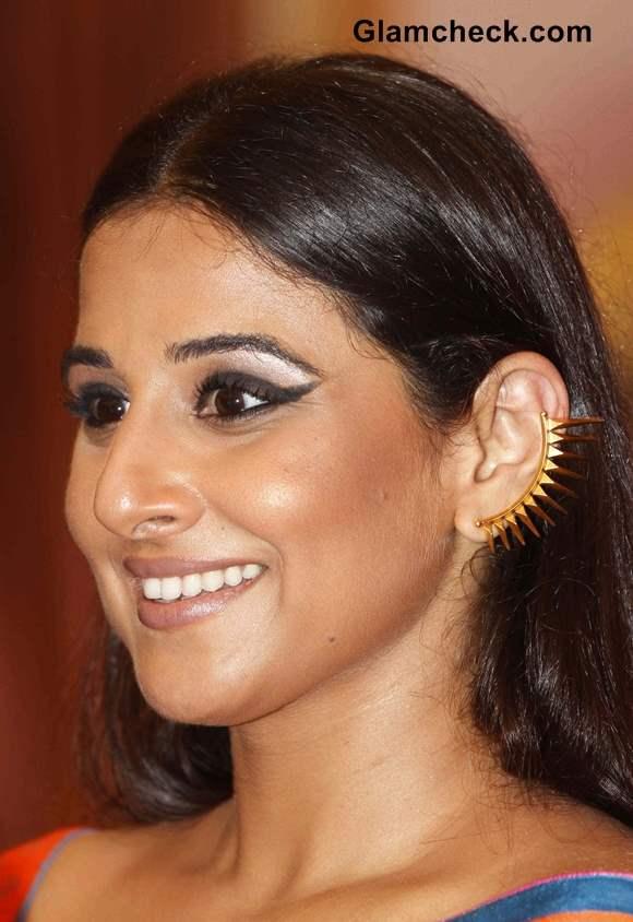 Vidya Balan Winged Eyeliner makeup 2013