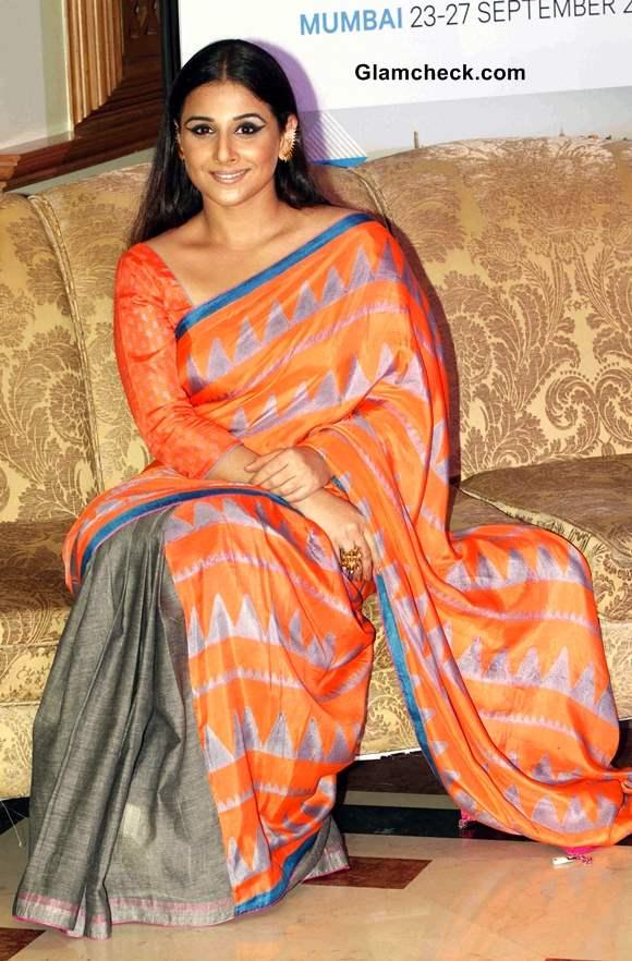 Vidya Balan in Sari 2013 Pictures